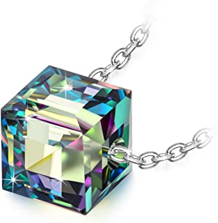 Alex Perry Regalo para Ella, Collar De Las Mujeres De La Serie Beautiful Life, Plata De Ley 925, Cristales De Swarovski, R...