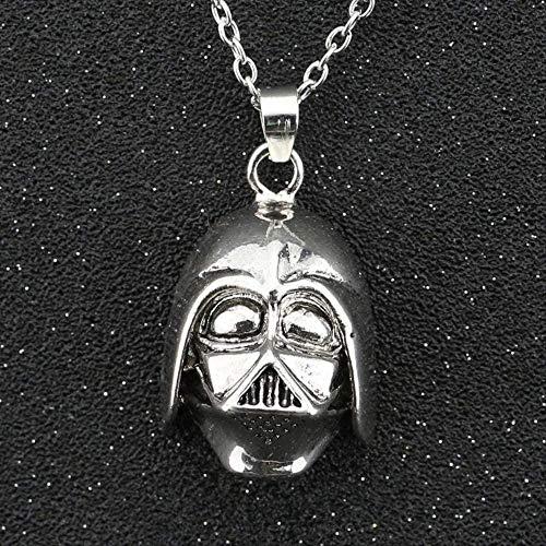 Yiffshunl Halskette Darth Vader Halskette Dark Lord Halskette Helm Vintage Antik Silber Farbe Anhänger Film Schmuck Anhänger Halskette Mädchen Jungen Geschenk