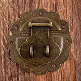 bloquearAntique Furniture Hardware Set Toggle Latch Hasp Buckle Clasp Decorative Chinese Old Padlock Lock For Jewelry Wooden Box 58mm