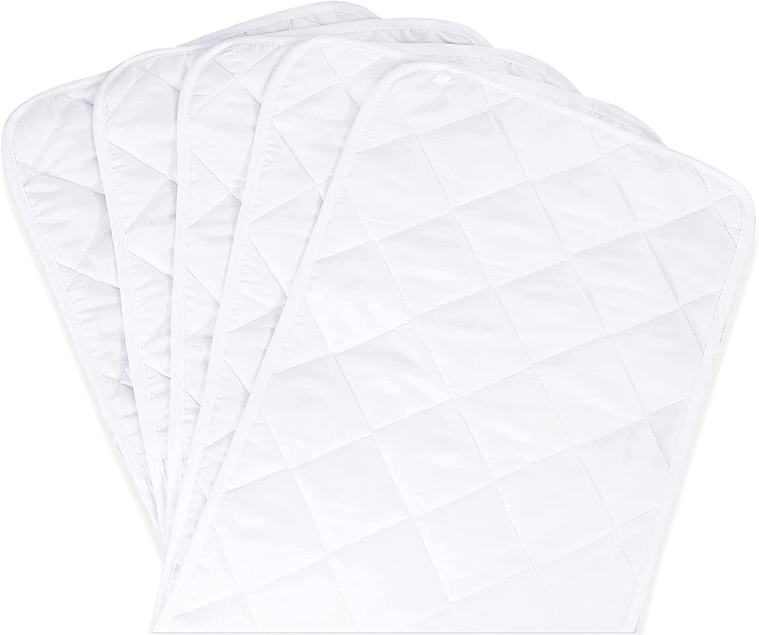 SINSAY 5 Pack Waterproof Changing Pad Liners, Size 27'' x 13'' Portable Diaper Pads, Soft Breathable & Noiseless Changing Table Cover Liners, Washable & Reusable Changing Table Pads