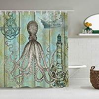 シャワーカーテンカモ鹿の写真防水バスライナーフックに含まれるdBathroom装飾的なアイデアポリエステル生地アクセサリー