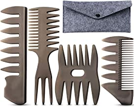 Hair Comb Styling Set, Professional Shaping & Wet Pick Hair Brush Men Boys Anti-Static Hair Brush Comb Barber Hairstylist ...