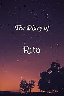 The Diary of Rita: Rita Personalised Custom Name Diary - 6x9 - Starry Night Theme