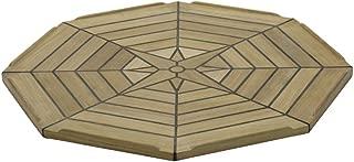 Tablero de la mesa de teca de diámetro 54,99 cm