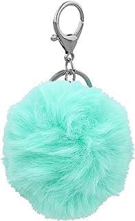 Teal Pom Pom Keyring Turquoise 7cm