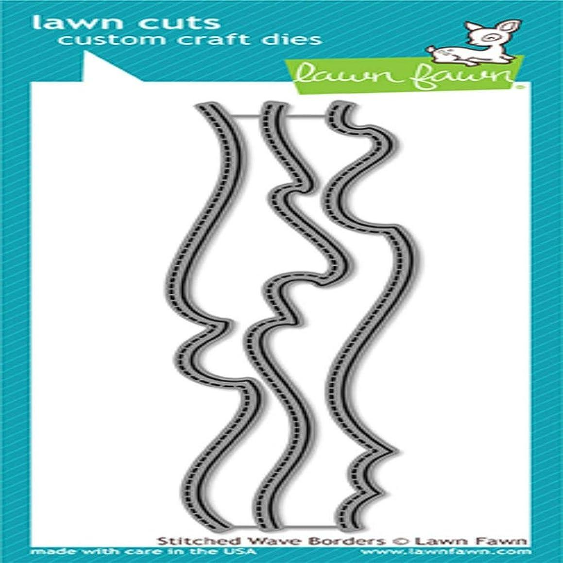Lawn Fawn Lawn Cuts Custom Craft Die - LF1710 Stitched Wave Borders