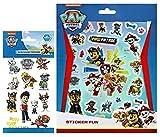 TrendyMaker Paw Patrol Tattoo Set - 12 Haut Tattoos für Kinder + Stickerblock mit 250 Stickern - passend für Tagebuch, Freundebuch, als Mitgebesel für Partytüten,... -