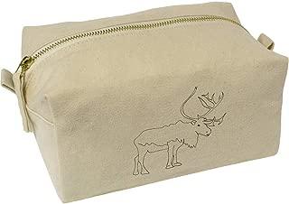 'Reindeer' Canvas Wash Bag / Makeup Case (CS00018386)