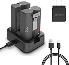 HOLACA Dual Port Charging Station for Ring Rechargeable Batteries,Compatible with Ring Video Doorbell 2,Ring Peephole Cam, Ring Spotlight Cam Battery and Ring Stick Up Cam Battery Camera