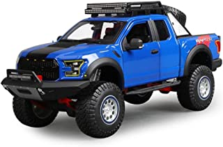 QARYYQ Model Car Ford Raptor F150 Model 1:18 Scale Model Die Casting Model Alloy Model Static Model Collection Jewelry Gift Car Storage Box (Color : Blue)