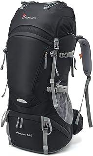 MOUNTAINTOP 65/75L Mochila de Senderismo Impermeable Gran Capacidad Bolsa de Emergencia Mochila de Trekking con Cubierta de Lluvia para Montañismo, Acampada, Caza