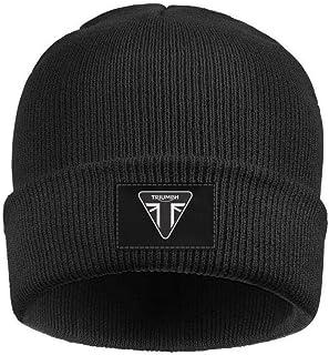 68cb8cdd125 Mens Womens Beanie Skull Hats Triumph-Motorcycles-Logo- Soft Fine Acrylic  Winter Warm