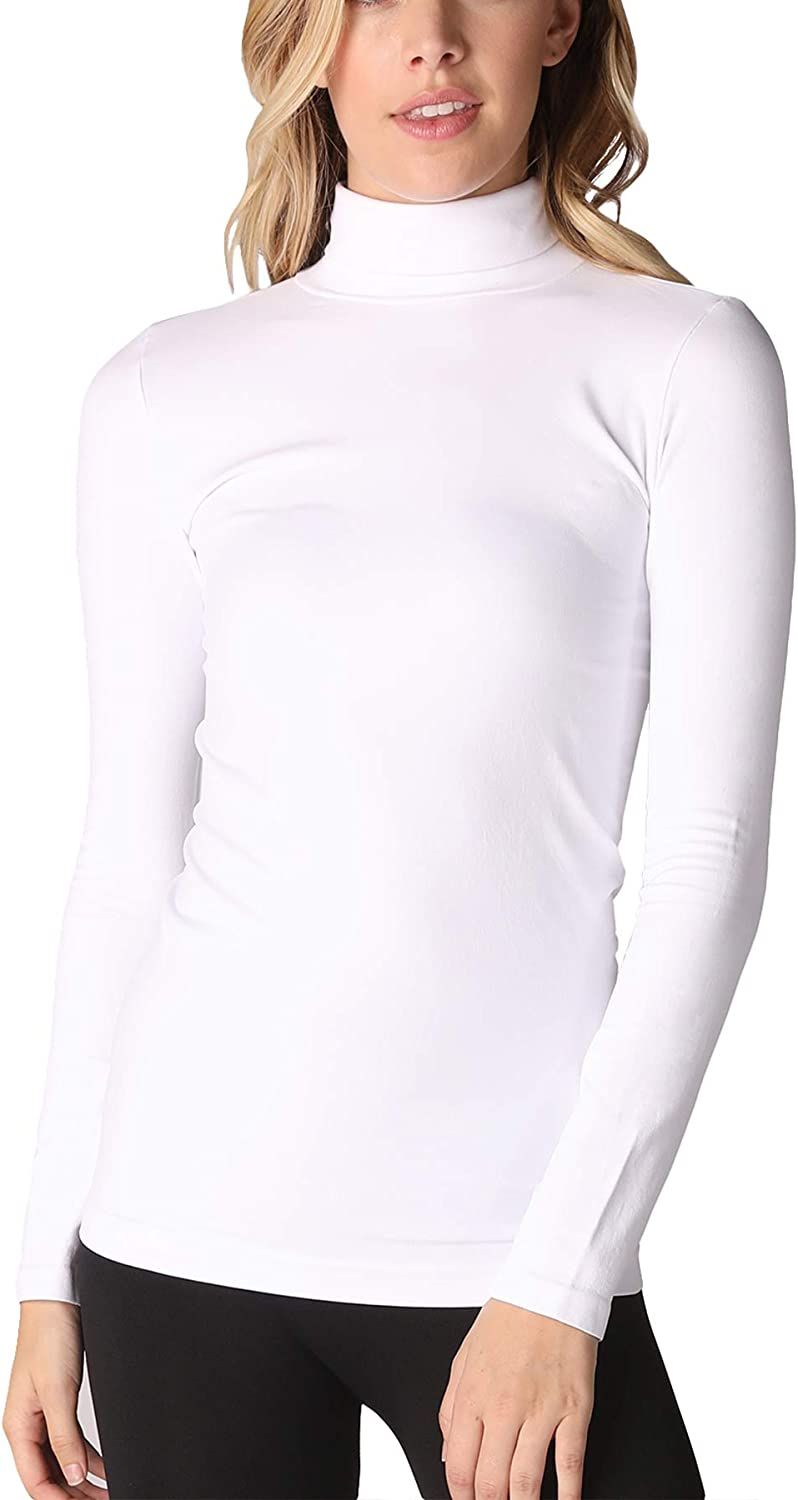 NIKIBIKI Women Seamless Long Sleeve lowest price Mock U.S.A in Top Made Neck Large special price !!