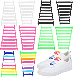 Solider 5 Pair No Tie Shoe Laces Silicone No Tie Shoelaces Lazy Shoelaces Waterproof for Adult And Kids