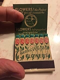 Vintage Feature Matchbook Charles Meyers Flowers, Norwood Ohio