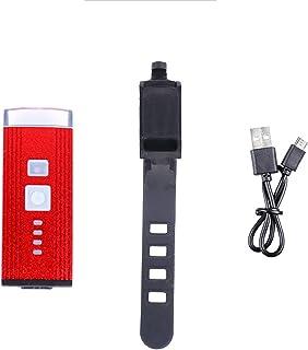 QIAO Luz de la Bicicleta Impermeable del USB Recargables Sensor Inteligente Luces de Bicicleta de Ciclo de la lámpara de l...