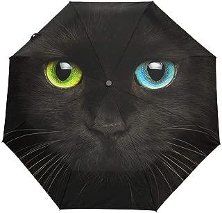 青空の韻 自動開閉式 ジャンプ傘 猫柄 ネコがら にゃんこ柄 ペット ブラック コンパクト スペシャル 特別 旅行 アウトドア 女性 ぬれない