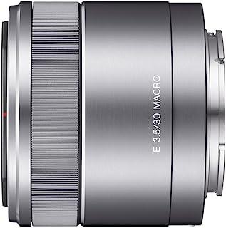 Sony SEL 30M35 Makro Objektiv (Festbrennweite, 30 mm, F3.5, APS C, geeignet für A6000, A5100, A5000 und Nex Serien, E Mount) silber