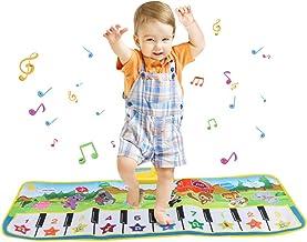 JUNSHUO Alfombra para Piano 100 * 36 cm, Alfombra de Teclado, Táctil Musical Juego Mat, Portátil Electrónico Educativo Musical Tapete de Piano para Bebé, Niño, Niña Regalo