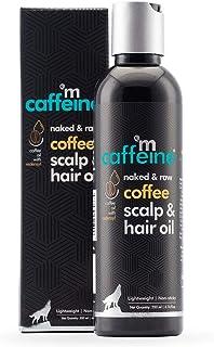 mCaffeine Naked & Raw Coffee Scalp & Hair Oil, 200 ml | Boosts Hair Growth | Redensyl & Argan Oil | All Hair Types | Non S...