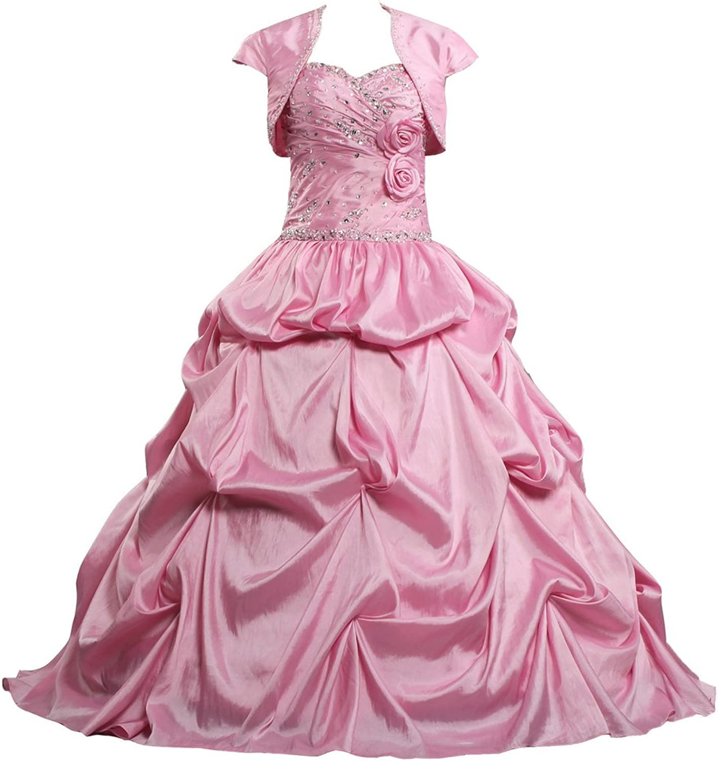 ANTS Women's Taffeta Beaded Quinceanera Gowns with Jacket 2015