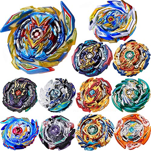 HUXICUI 12 Pieces Gyros Pack, High Performance Battling Top Burst Battle Toys Set, Birthday Party Best Toys Gifts for Boys Kids Children Age 8+