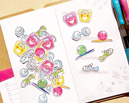Amazon.com: Exercise Stickers for Daily Agenda and Planners ...