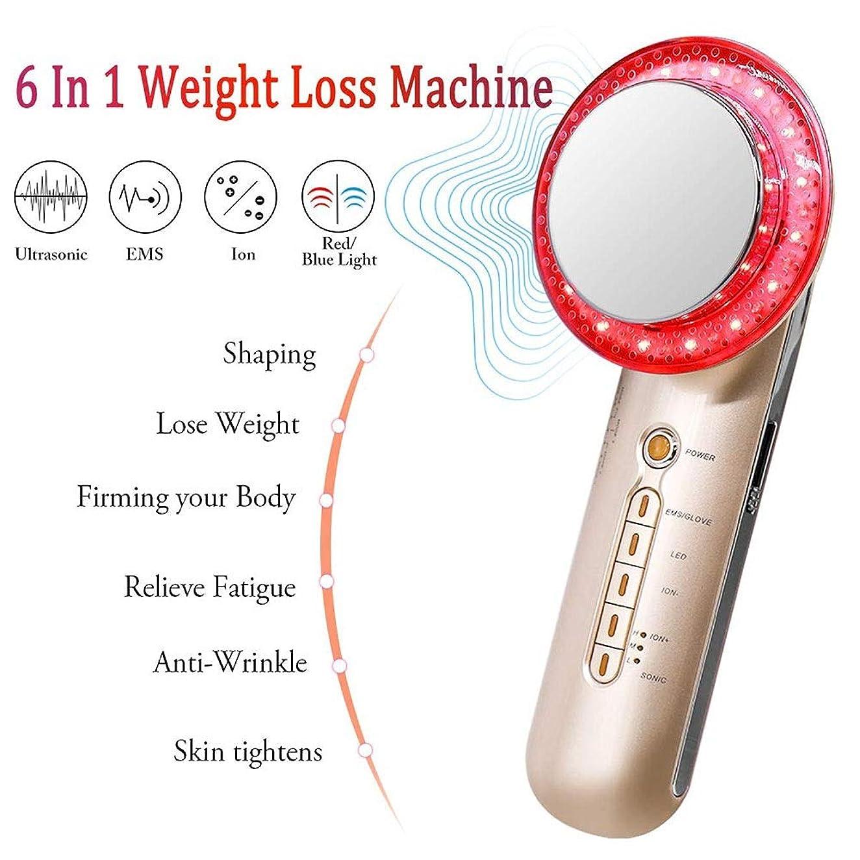 分類する冷える全滅させる6 1台の減量のマシンでは、多機能マッサージャー脂肪燃焼マシン、EMSボディシェーピングマシン、イオンブルーレッドライトホーム用スキンケア美容デバイスとのファットリムーバーマシンは、肌のための締め