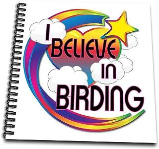 3dRose db_166286_2 I Believe in Birding Cute Believer Design-Memory Book, 12 by 12-Inch