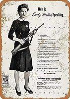 女性の戦争労働者、ブリキのサインヴィンテージ面白い生き物鉄の絵画金属板ノベルティ