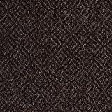 Dunkelbraun Diamant Weave Natur ungefärbt Tweed–Meterware