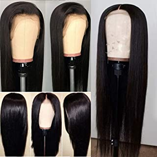 Glueless Natural Straight Lace Front Wigs with Baby Hair Fashion Long Hair Wig Synthetic Heat Resistant Fiber for Women 18 inch