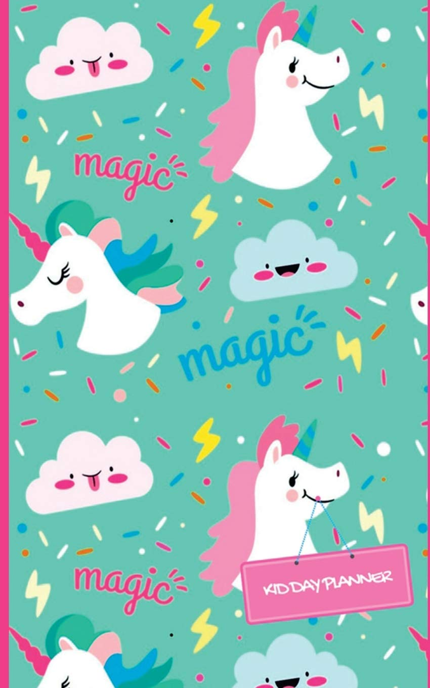 Image OfKid Day Planner: Unicorn Design Cover Weekly Pocket Planner Journal : Daily Small Fun To Do List Planner : Notebook : Orga...