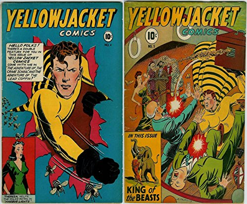 Yellow Jacket Comics. Issues 4 and 5. Features King of the beasts, the advenute of the crime school and the adventure of the lead coffin. Golden Age digital ... superheroes and Heroines. (English Edition)
