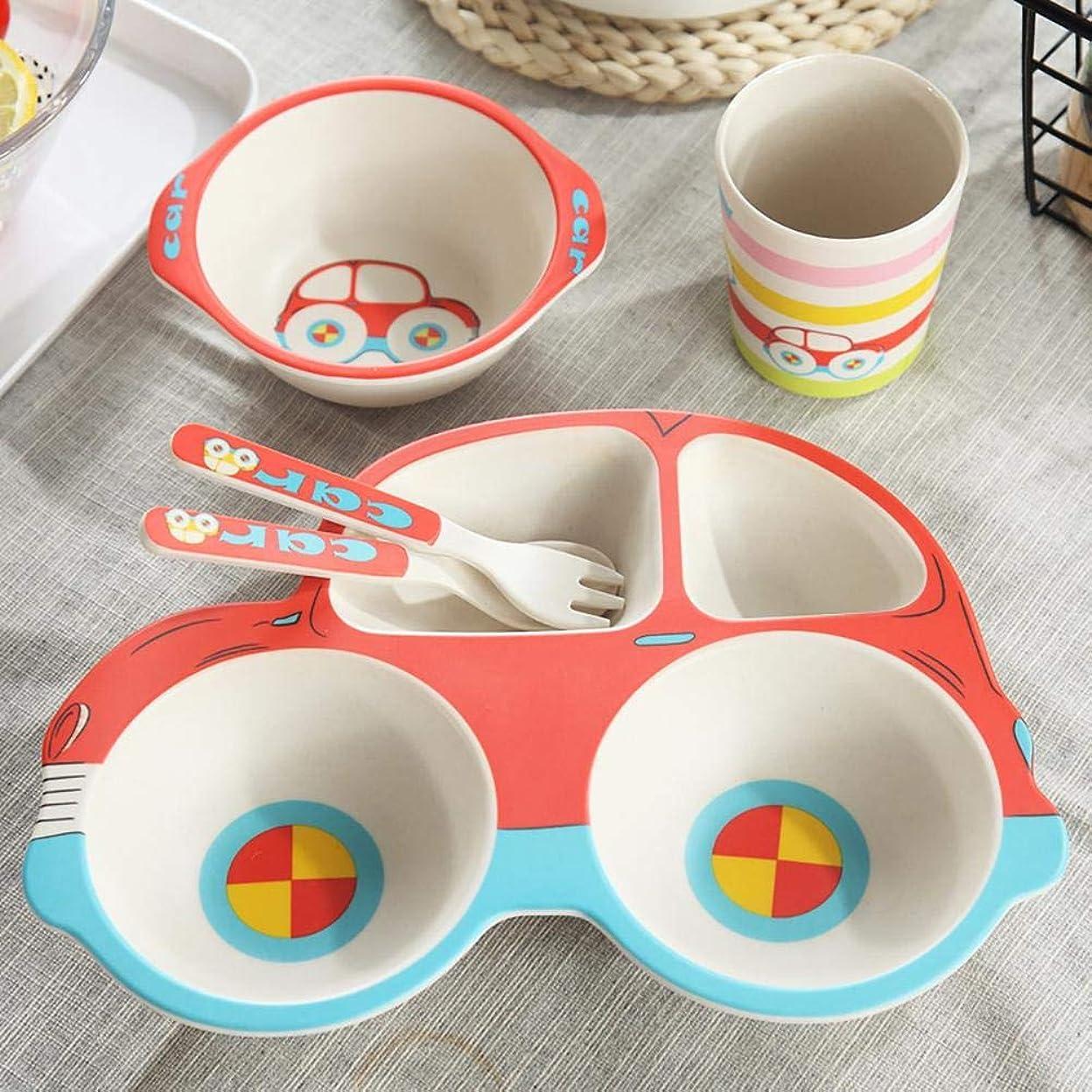 Easylifee 子ども用食器セット がっこう キッズ ベビー ランチプレート ランチ皿 食器 子ども用食器セット5点