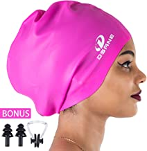 Dsane Extra Large Swimming/Shower Cap for Women and Men,Special Design Swim Cap for Very Long Thick Curly Hair&Dreadlocks Weaves Braids Afros Silicone Keep Your Hair Dry