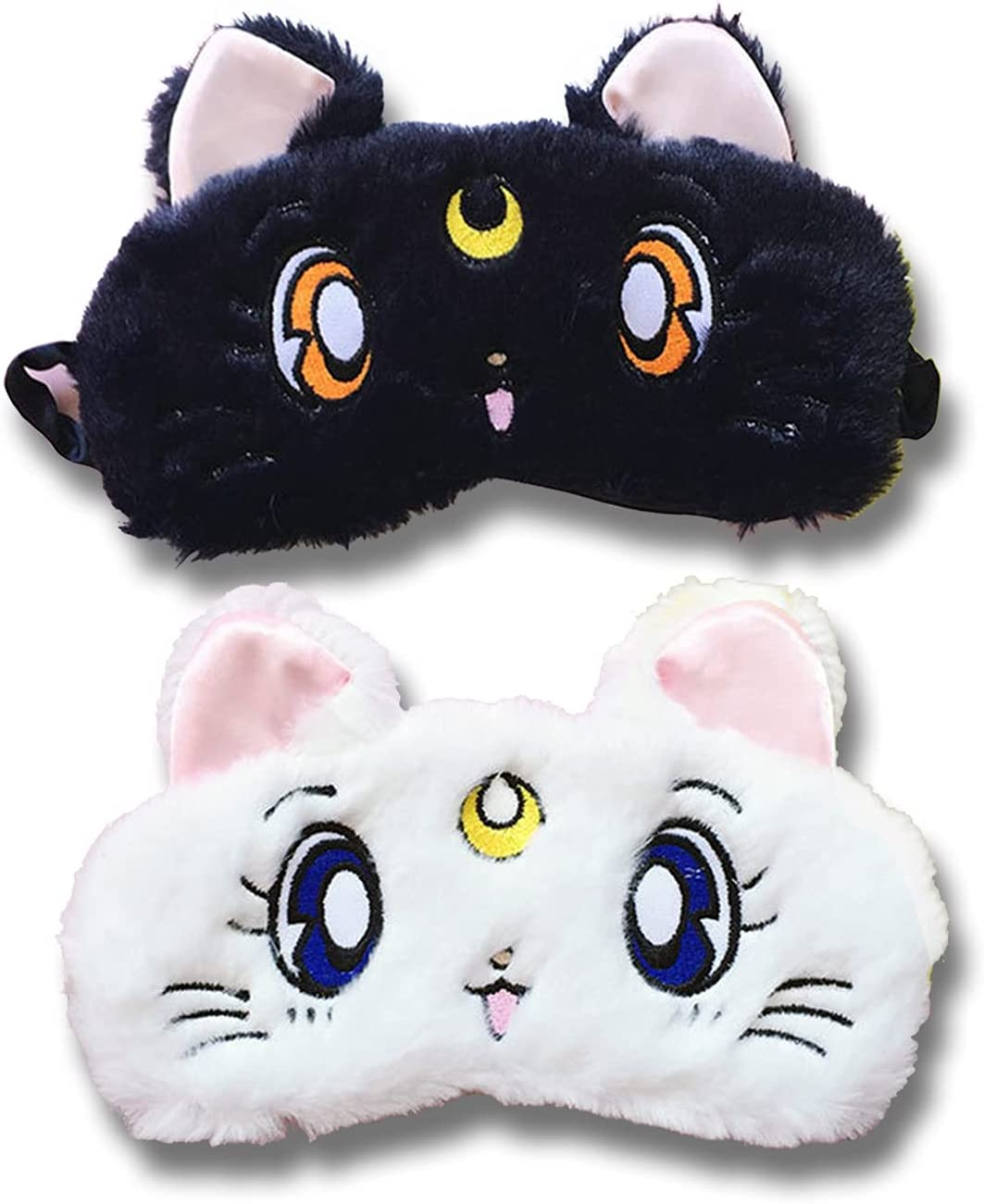 Sailor Moon Sleeping Mask Max 65% OFF 2 Cheap mail order sales Pack Blindfold Plush Mas Girls Soft