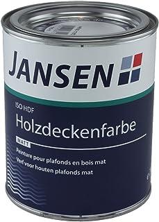 Jansen ISO-HDF Holzdeckenfarbe matt weiß 750ml Grund und Deckanstrich