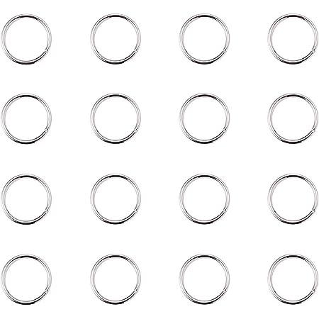 PandaHall Elite 10mm Anellini Aperti Anellini per Braccialetti collane Orecchini Bigiotteria Anelli Chiusi ma Non-Saldatura per mestiere Fai da Te Argento, 260PCS