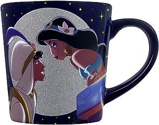 9ff4d362171 Half Moon Bay Taza Aladdin Disney Aladdin & Jasmine con Brillo 325ml Azul  cerámico