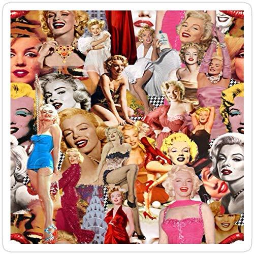 DKISEE 3 Pz Adesivi Marilyn Monroe, Tumblr Sticker per computer portatile, telefono, auto, vinile divertente decalcomania per computer portatili, chitarra, frigorifero 4 pollici