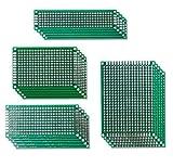 Aihasd 20PCS Lateral Doble 5x7 4x6 3x7 2x8CM de Circuito Impreso PCB Prototipos Vero Junta de Gaza...