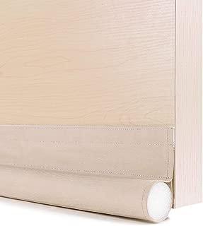 GNEGNI One Sided Door Draft Stopper,36 Inch Single Draft Noise Blocker for Doors Windows(Wooden Begie)