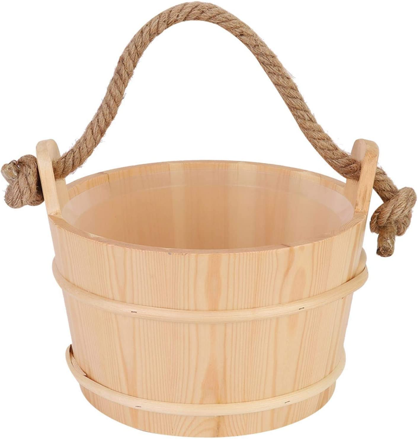 6L Sauna Bucket Barrel Popularity Wooden Accessories for Spa Shower S Max 60% OFF
