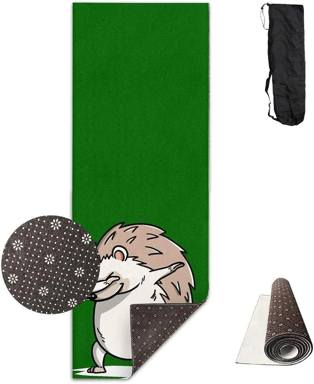 Funny Dabbing Hedgehog Yoga Mat Towel for Bikram Hot Yoga, Yoga and Pilates, Paddle Board Yoga, Sports, Exercise, Fitness Towel