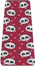Yogamat - Eco-vriendelijke anti-slip oefening & fitness mat voor alle soorten yoga, pilates & vloeroefeningen, Panda patro...