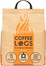 bio-bean Coffee Logs - Eco-Friendly Fire Logs for Wood Burners and Multi-Fuel Stoves (16 logs)