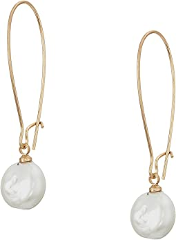 Elongated Pearl Drop Earrings