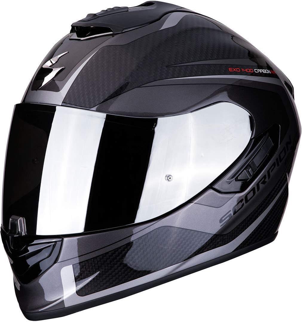 Scorpion Unisex Erwachsene Exo 1400 Air Carbon Esprit Black Silver Xxl Auto