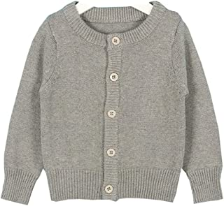 Mornyray Toddler Kids Boy White Knitwear Cardigan Thick Sweater Outerwear